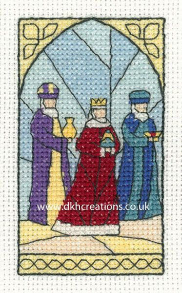 Wise Men Christmas Greetings Card Cross Stitch Kit